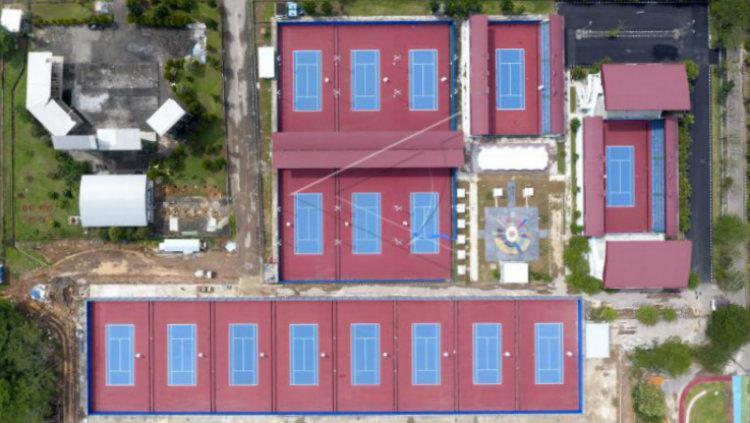 Lapangan Tenis Bukit Asam Copyright: Antara