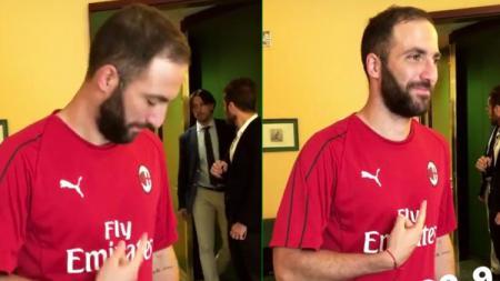 Gonzalo Higuain resmi gabung AC Milan. - INDOSPORT