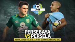 Indosport - Persebaya Surabaya vs Persela Lamongan.