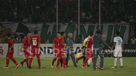 Jalannya pertandingan Indonesia U-16 vs Vietnam (02/08/18). - INDOSPORT