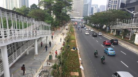 Jalan Jenderal Sudirman, Jakarta. - INDOSPORT