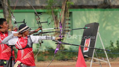 Pengurus Pusat Persatuan Panahan Seluruh Indonesia (PP Perpani) berharap bisa mengirim delapan atlet ke ajang Olimpiade Tokyo 2020. - INDOSPORT