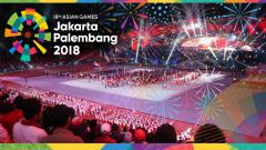 Indosport - Opening Ceremony Asian Games 2018.