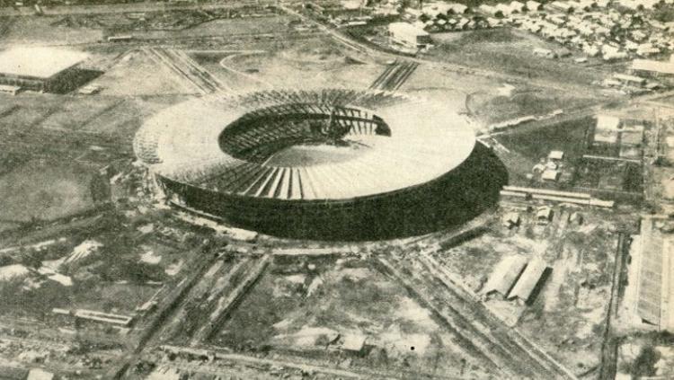 Stadion Gelora Bung Karno di Asian Games 1962. Copyright: Istimewa