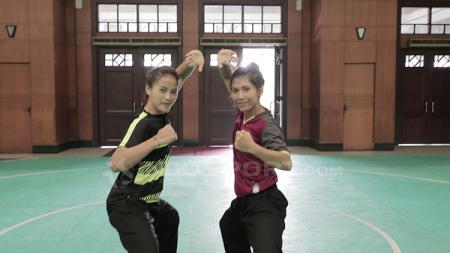 Ni Made Dwi Yanti dan Sang Ayu Ketut Sidan Wilantari, pasangan ganda putri pencak silat di Asian Games 2018. - INDOSPORT