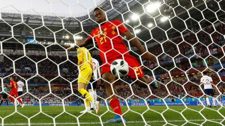 Selebrasi Batshuayi ke gawang Inggris di Piala Dunia 2018 - INDOSPORT