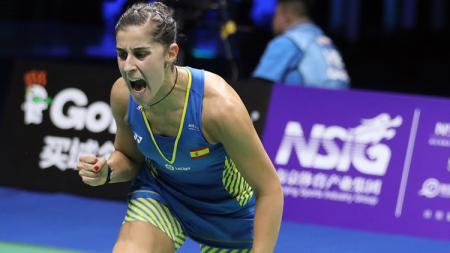 Carolina Marin keluar sebagai juara dunia di nomor tunggal putri. - INDOSPORT