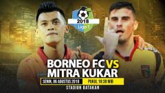 Indosport - Borneo FC vs Mitra Kukar.