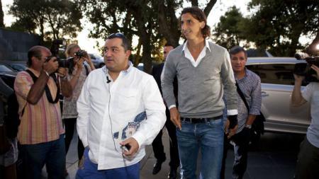 Mino Raiola dan Zlatan Ibrahimovic beberapa tahun lalu. - INDOSPORT