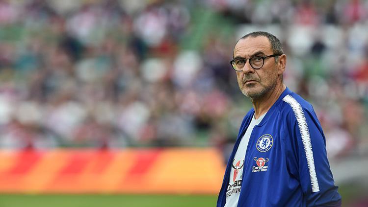 Mauruzio Sarri, pelatih Chelsea. Copyright: INDOSPORT
