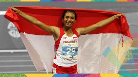 Atlet atletik putri Indonesia, Maria Londa. - INDOSPORT