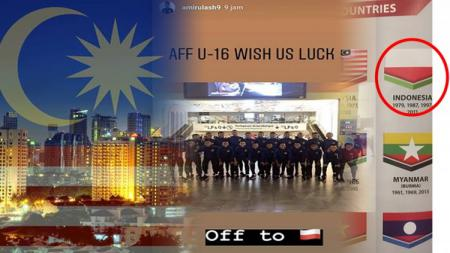 Malaysia beberapa kalo lecehkan bendera Indonesia. - INDOSPORT