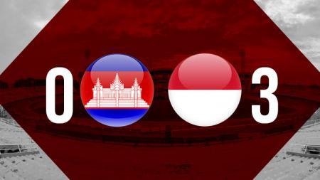 Babak pertama Kamboja vs Indonesia U16. - INDOSPORT