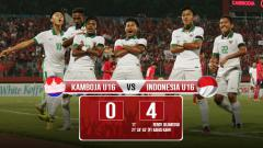Indosport - Hasil pertandingan Kamboja vs Indonesia U16.