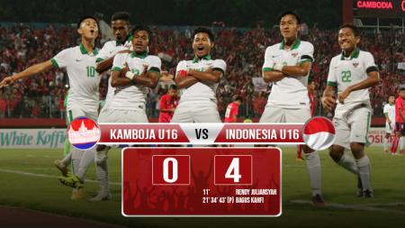 Hasil pertandingan Kamboja vs Indonesia U16. - INDOSPORT