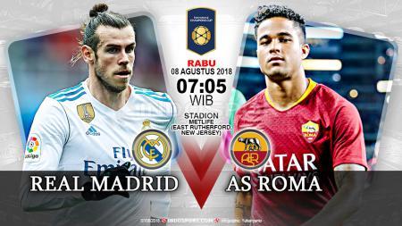 Real Madrid vs AS Roma. - INDOSPORT