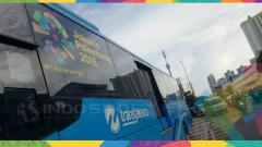 Indosport - Bus Transjakarta gratis selama Asian Games 2018