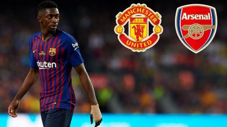 Gelandang serang Barcelona, Ousmane Dembele diminati oleh Man United dan Arsenal. - INDOSPORT