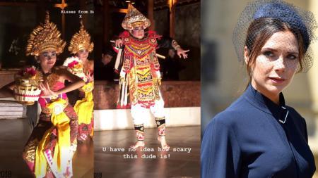 Victoria Beckham menikmati tarian khas Bali - INDOSPORT
