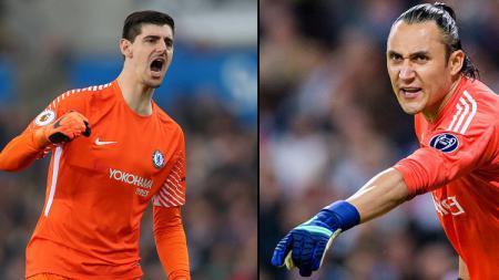 Thibaut Courtois dan Keylor Navas, kiper Real Madrid. - INDOSPORT