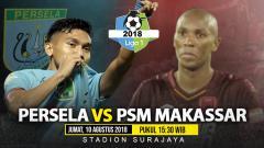 Indosport - Persela Lamongan vs PSM Makassar.