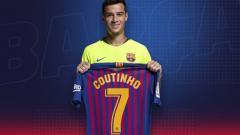 Indosport - Philippe Coutinho Dengan Jersey Nomor 7