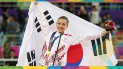 Indosport - Mantan pesenam ritmik Korea Selatan, Son Yeon-Jae.