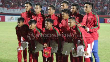 Timnas Indonesia U-16 saat berlaga di ajang Piala AFF U-16 2018. - INDOSPORT