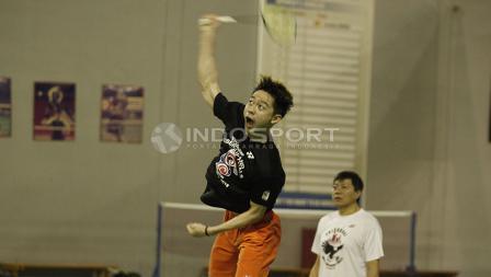Kevin Sanjaya mendapat pengawasan dari pelatih Aryono Miranat.