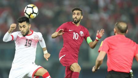 Ali Jaafar Madan (kiri)  gelandang Bahrain untuk Asian Games 2018 - INDOSPORT