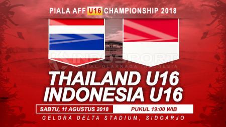 Timnas Thailand U16 vs Indonesia U16. - INDOSPORT