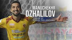 Indosport - Sriwijaya FC vs Madura United Manuchekhr Dzhalilov.