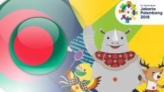 Indosport - Banglades Asian Games 2018.