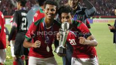 Indosport - Duo kembar Timnas Indonesia U-16, Bagas Kaffa dan Bagus Kahfi.