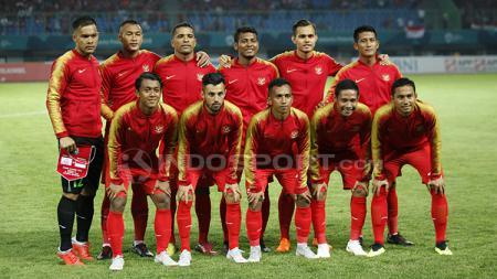 Skuat Timnas Indonesia U-23 di laga Asian Games 2018. - INDOSPORT
