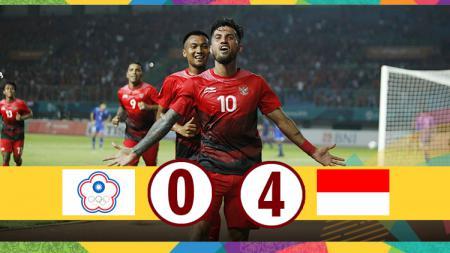Hasil pertandingan Taiwan vs Indonesia. - INDOSPORT