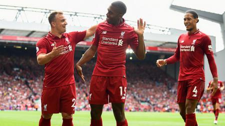 Daniel Sturridge merayakan golnya ke gawang West Ham United - INDOSPORT