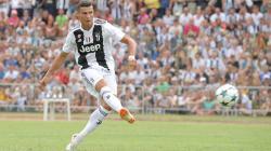 Cristiano Ronaldo saat tampil perdana membela Juventus