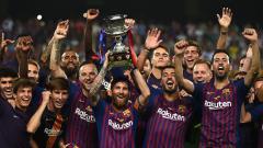 Indosport - Barcelona juara Piala Super Spanyol 2018