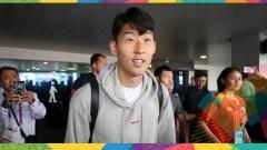 Indosport - Song Heung-min, andalan Timnas Korea Selatan di Asian Games 2018.