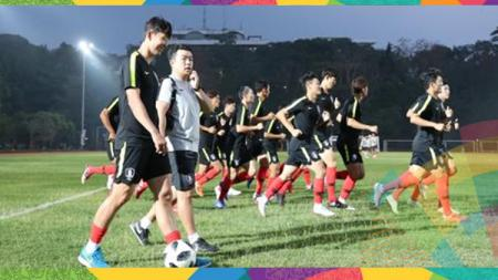 Song Heung-min sudah bergabung dengan latihan Timnas Korea Selatan. - INDOSPORT