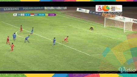 Hargianto mencetak gol saat Taiwan U-23 vs Indonesia U-23 di Asian Games 2018. - INDOSPORT