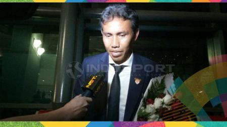 Bima Sakti, asisten pelatih Timnas Indonesia di Asian Games 2018. - INDOSPORT