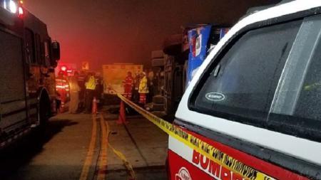 Bus yang membawa fans Barcelona SC mengalami kecelakaan fatal - INDOSPORT