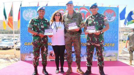 """Satgas Indonesian Battalion (Indobatt) Kontingen Garuda XXIII-L/UNIFIL (United Nations Interim Force In Lebanon) menyelenggarakan perlombaan lari jarak menengah dengan title """"Garuda Run 12K"""". - INDOSPORT"""