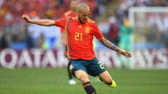 Indosport - David Silva saat pertandingan 16 besar Piala Dunia 2018 melawan Rusia, 1 July 2018.