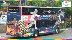 Indosport - Bus transJakarta angkutan wisata untuk Asian Games 2018.
