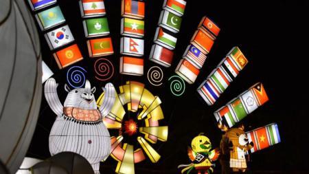 Ancol menyajikan festival lampion untuk menyambut Asian Games 2018 - INDOSPORT