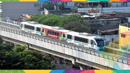 LRT atau kereta cepat di Palembang untuk Asian Games 2018. - INDOSPORT
