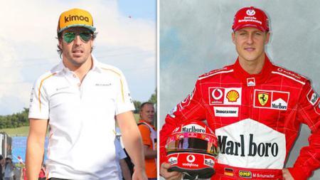 Juara dunia Formula 1, Fernando Alonso dan Michael Schumacher - INDOSPORT